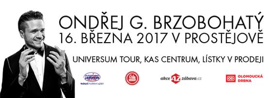 Ondřej Gregor Brzobohatý vystoupí v Prostějově a vstupenky jsou stále v prodeji!
