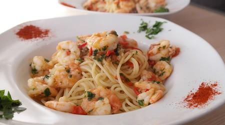 ilustrační obrázek k článku Špagety s koriandrovým pestem a krevetami